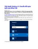 Thủt thuật Windows 8: Chuyển đổi ngôn ngữ sang tiếng Việt
