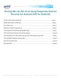 Hướng dẫn cài đặt và sử dụng Kaspersky Internet Security for Android (KIS for Android)