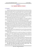 Giáo trình Công nghệ chế tạo máy - Chương 1: Các khái niệm cơ bản