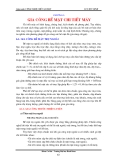 Giáo trình Công nghệ chế tạo máy - Chương 6: Gia công bề mặt chi tiết  máy