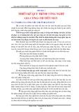 Giáo trình Công nghệ chế tạo máy - Chương 7: Thiết kế quy trình công nghệ gia công chi tiết máy