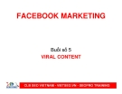 Facebook Marketing - Buổi số 5: Viral Content