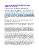 Kinh doanh bảo hiểm ở Việt Nam: Thực trang và giải pháp