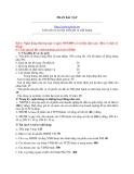 Bài tập môn Quản trị Ngân hàng Thương Mại