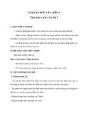 Giáo án Ngữ văn 12 tuần 19 bài: Tổng hợp giáo án về bài viết số 5 - Nghị luận văn học