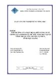 Luận văn: Ảnh hưởng của mật độ gieo sạ đến năng suất giống lúa OM4218 trong vụ Hè Thu năm 2012 tại xã Vĩnh Thuận Tây, huyện Vị Thủy, tỉnh Hậu Giang