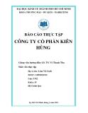 Báo cáo thực tập tốt nghiệp công ty xuất khẩu bột cá Kiên Hùng