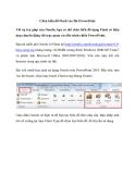 Chèn biểu đồ Flash vào file PowerPoint
