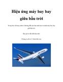 Hiệu ứng máy bay bay giữa bầu trời
