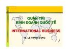 Bài giảng quản trị kinh doanh quốc tế - Lê Thành Long