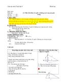 Giáo án môn Toán lớp 9 về một số hệ thức về cạnh và đường cao trong tam giác vuông