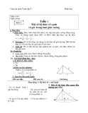 Giáo án Hình học 9 chương 1 bài 1: một số hệ thức về cạnh và đường cao trong tam giác vuông hay nhất