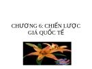 Bài giảng môn marketing toàn cầu của ThS. Trần Hải Ly - Chương 6