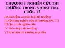 Bài giảng môn marketing toàn cầu của ThS. Trần Hải Ly - Chương 3