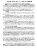 Tài liệu ôn môn Tư Tưởng Hồ Chí Minh