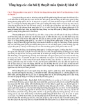 Tổng hợp các câu hỏi lý thuyết môn Quản lý kinh tế