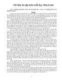 Tài liệu ôn tập môn triết học MacLenin