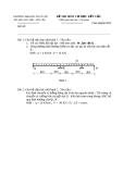 Đề thi môn cơ học kết cấu 1 - Trường đại học Thủy Lợi - Đề số 10