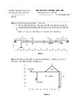 Đề thi môn cơ học kết cấu 1 - Trường đại học Thủy Lợi - Đề số 38