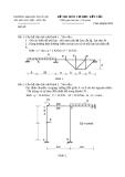 Đề thi môn cơ học kết cấu 1 - Trường đại học Thủy Lợi - Đề số 12