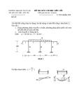 Đề thi lại môn cơ học kết cấu 2 - Trường đại học Thủy Lợi - Đề số 2