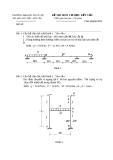 Đề thi môn cơ học kết cấu 1- Trường đại học Thủy Lợi - Đề số 1