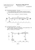 Đề thi môn cơ học kết cấu 1 - Trường đại học Thủy Lợi - Đề số 22