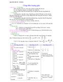 Giáo án chương 6 toán 10: Công thức lượng giác