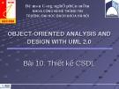 Bài 10: Thiết kế cơ sở dữ liệu
