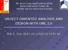Bài 06. Xác định các phần tử thiết kế