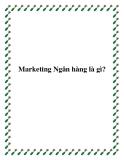 Lý thuyết cơ bản Marketing ngân hàng