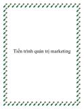 Tiến trình quản trị marketing