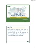 Nhập môn Quản trị Marketing - Th.S Đinh Tiến Minh