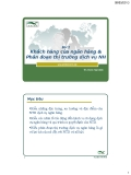 Bài 2 : Khách hàng của ngân hàng & Phân đoạn thị trường dịch vụ ngân hàng - Th.S Đinh Tiên Minh