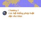 Bài giảng luật học so sánh chương 5 - Trần Vân Long
