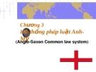 Bài giảng luật học so sánh chương 3 - Trần Vân Long