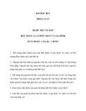 Bộ đề thi vấn đáp học phần luật hôn nhân và gia đình - ĐH Huế Khoa luật