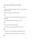 30 Đề thi vấn đáp môn luật ngân hàng