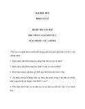 Bộ đề thi vấn đáp học phần luật dân sự 1 - ĐH Huế Khoa luật