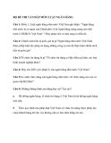 Bộ đề thi vấn đáp môn luật ngân hàng
