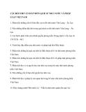 Câu hỏi thi vân đáp môn lịch sử nhà nước và pháp luật việt nam