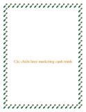Các chiến lược marketing cạnh tranh