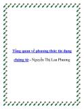 Tổng quan về phương thức tín dụng chứng từ - Nguyễn Thị Lan Phương