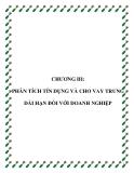 Chương 3 : Phân tích tín dụng và cho vay dài hạn đối với doanh nghiệp - CĐ Tài chính Ngân Hàng Qui Nhơn