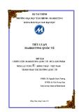 Chiến lược Marketing quốc tế  Đưa sản phẩm Nem Lai Vung® tỉnh Đồng Tháp–Việt Nam thâm nhập thị trường quốc tế