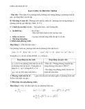 Đại số lớp 10: Giáo án đại cương về phương trình