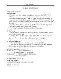 Giáo án  Đạo hàm cấp hai - Toán 11