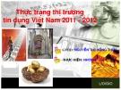 Thực trạng thị trường tín dụng Việt Nam 2011-2012