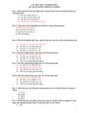 Câu hỏi trắc nghiệm môn kế toán hành chính sự nghiệp kèm theo đáp án