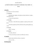 Đại số lớp 10: Giáo án Phương trình và hệ phương trình bậc nhất nhiều ẩn